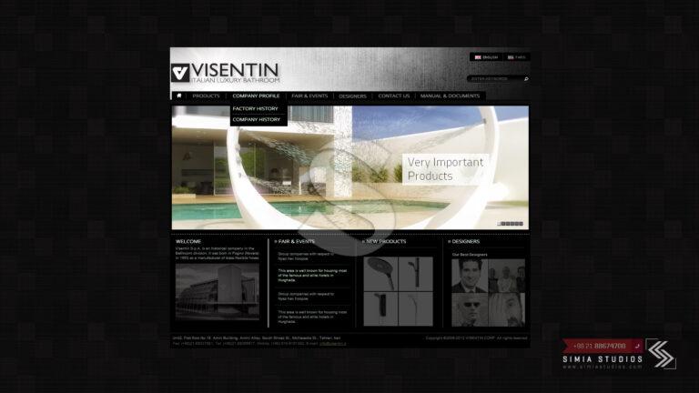 طراحی سایت صنایع شیرآلات ویسنتین
