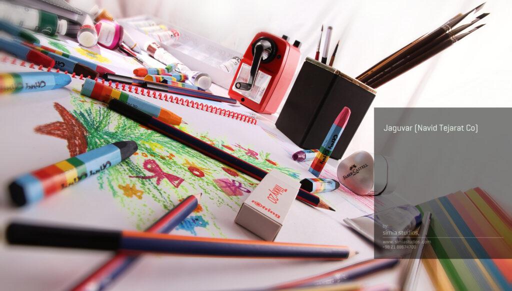 عکاسی صنعتی محصولات لوازم التحریر جگواریتا
