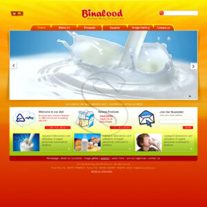 طراحی سایت شرکت محصولات لبنی بینالود