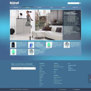 طراحی سایت لوازم پزشکی و بهداشتی بشل